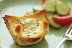 Mini quiches made from bread!