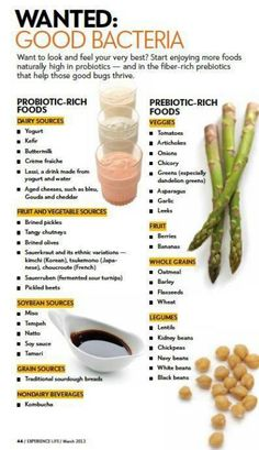 Prebiotic and probiotic foods