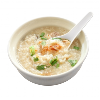 Congee with spoon